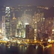 Stock Photo: Hong Kong at night on Christmas