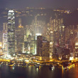 Hong Kong at night on Christmas — Stock Photo