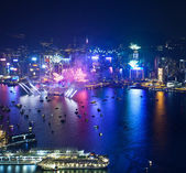 Hong Kong 2013 countdown fireworks — Stock Photo