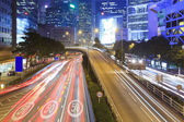 Traffic in downtown of Hong Kong — Foto Stock
