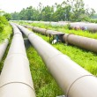 Stock Photo: Industrial pipelines scene