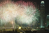 Hong Kong fireworks in Chinese New Year — Stock Photo