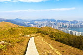 Hiking path in Hong Kong downtown — Stock Photo