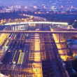 Railway transportation at night - Foto Stock
