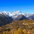 Snow mountain landscape in autumn — Stock Photo