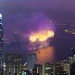 Fireworks in Hong Kong, China — Stock Photo #21899287