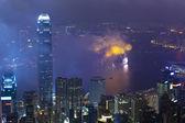 Fireworks in Hong Kong, China — Stock Photo