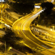 Stock Photo: Traffic highway in Hong Kong at night