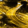 Traffic highway in Hong Kong at night — Stock Photo
