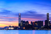 Hong Kong at sunset — Stock Photo