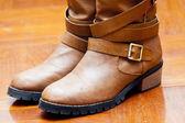 Nuove scarpe stivale piano — Foto Stock