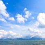 Mountain and sea — Stock Photo