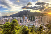 Sunset in Hong Kong, Tuen Mun. — Stock Photo
