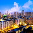 Hong Kong crowded urban at night — Stock Photo