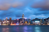 Hong Kong night view at Victoria Harbor — Stock Photo