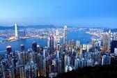 Hong kong à noite — Foto Stock