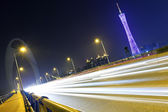 Highway in Guangzhou at night — Stock Photo