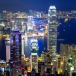 City night view in Hong Kong — Stock Photo