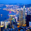 Hong Kong city night view at peak — Stock Photo