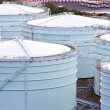 Gas storage tank in industrial plant — Stock Photo