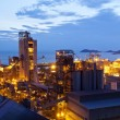 Stock Photo: Oil refinery at twilight