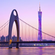 Zhujiang River and modern building of financial district in Guan — Stock Photo