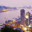 Hong Kong city at sunset — Stock Photo