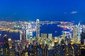 Hong kong dans la nuit — Photo
