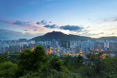 City sunset in Hong Kong — Stock Photo