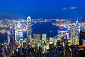 Hong Kong night — Stockfoto