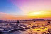 Sunset coast in Hong Kong — Stock Photo