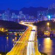 Modern highway in city at night — Stock Photo #36359345