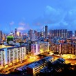 Sham Shui Po district in Hong Kong at night — Stock Photo