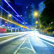 Road traffic at night in Hong Kong — Stock Photo