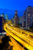 Elevated expressway in Hong Kong at night — Stock Photo