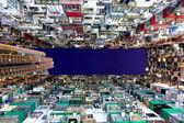 Hong Kong packed buildings at night — Stock Photo