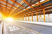 Tunel oświetlenie samochodu — Zdjęcie stockowe
