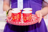 Chinese tea ceremony in wedding — Stock Photo