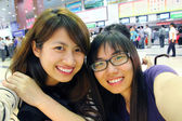 Asian friends with lovely smile — Stock fotografie