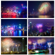 Hong Kong fireworks — Stock Photo