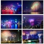 Hong Kong fireworks — Stock Photo #40083607
