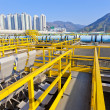 Groups of storage tanks with waste water — Stock Photo
