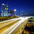 Stockfoto: Traffic at city downtown at night