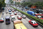 Traffic jam in Hong Kong — Stock Photo