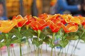 Kunststof bloemen voor decoratie — Stockfoto