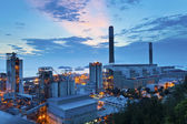 Power plant at dusk — Stock Photo