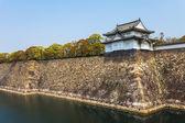 Osaka Castle along river in Japan — Stock Photo