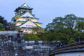 Osaka Castle at night in Japan — Stock Photo