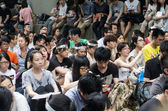 Protesters about Northeast New Territories Hong Kong — Stockfoto