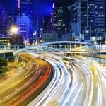 Busy traffic in Hong Kong at night — Stock Photo #51762401
